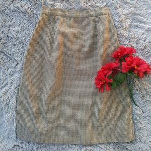Vintage | Houndstooth Midi Skirt